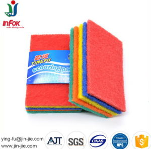 Colorful Non Scratch Kitchen Tile Cleaning Scouring Pad pictures & photos