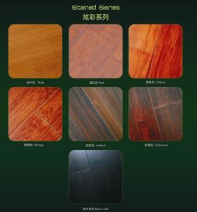 Stained Colour Picture Bamboo Flooring pictures & photos