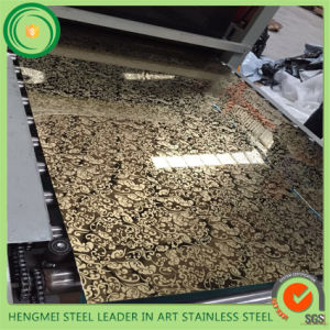 Hot Selling 304 Mirror Etched Stainless Steel Sheet for Elevator Decoration pictures & photos