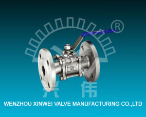 Three-Piece Model Flanged Stainless Steel Ball Valve pictures & photos