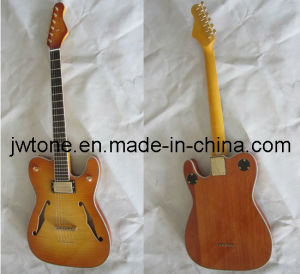 Double F Hole String Through Body Tele Electric Guitar pictures & photos
