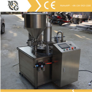 Fully Automatic Servo Driven Rotary Cup Filling and Sealing Machine pictures & photos