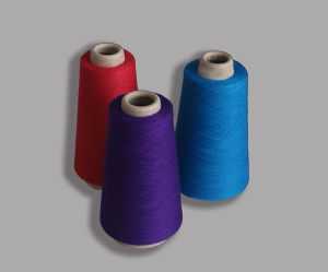 Polyester Spun Yarn-Colored Yarn pictures & photos