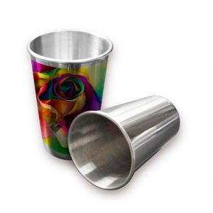 Sublimation Cone Shape Stainless Silver Mug for Personalized Printing 18oz pictures & photos