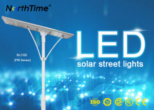 100W High Lumens Phone APP Controlled LED Solar Street Light pictures & photos