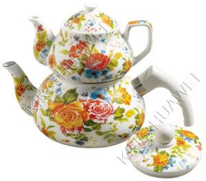 Enamel And Porcelain Teapot Set (HWT90067-N)