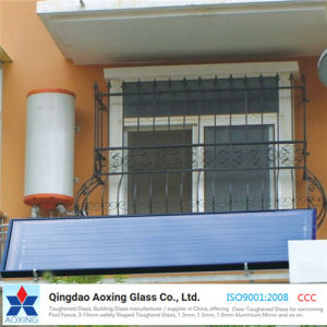 Ultra Clear Low Iron Solar/Photovoltaic Glass for Solar Water Heate pictures & photos