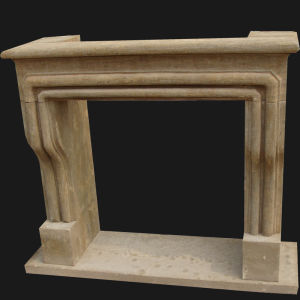 Antique Finish Natural Stone Carving Fireplace pictures & photos