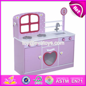 New Products Purple Small Wooden Toddler Play Kitchen for Sale W10c264 pictures & photos