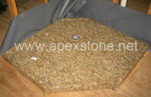 Giallo Fiorito Granite Shower Base
