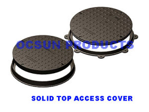 Round Manhole Cover Solid Top pictures & photos