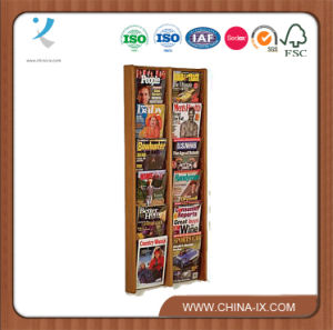 Wood Magazine Rack for Office with Forward Tilting Acrylic Panels pictures & photos