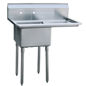Stainless Steel One Compartment Kitchen Sink with Right Drainboard-5 pictures & photos