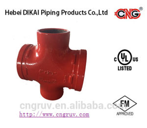 FM UL Approved Grooved Pipe Fitting Grooved Reducing Cross pictures & photos