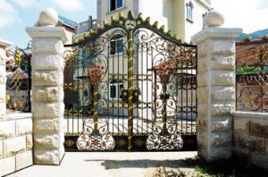 Hot Galvanized Wrought Iron Gate (TS-093) pictures & photos