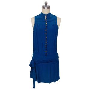 Ladies Fashion Casual Dress in Silk Cdc