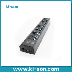 7port USB 3.0 Hub with on/off Switch (KISON-USB307)