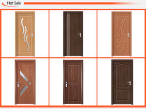 Glass Design Interior MDF Wooden Door (SC-P151) pictures & photos
