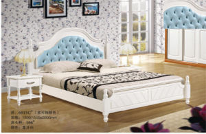 High Quality Wooden Bedroom Bed, Simple Bed (6015) pictures & photos