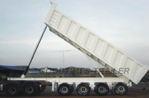 45cbm 4 Axles Hydraulic Tipper Trailer pictures & photos