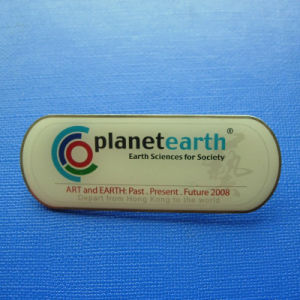 Name Offset Print Lapel Pin, Custom Badge (GZHY-OP-014) pictures & photos