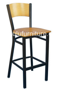 Iron Dining Room Chair with Wood Back All--209BS-7)
