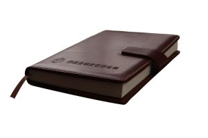 Brown Colour High Quality Leather Notebook (YY-N0123) pictures & photos
