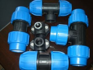 HDPE PP Compression Fittings for Water Suppy, Irrigation pictures & photos