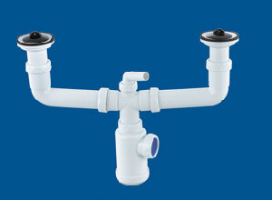 Dual Basin Drainer, Plastic Dual Head Drainer for Basin pictures & photos