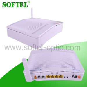 WiFi Function 4 Fe Port with 2 VoIP Port FTTH Wireless Triple Play Epon ONU pictures & photos