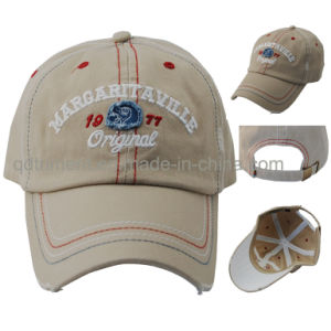 Grinding Washed Contrasting Stitches Embroidery Baseball Sport Cap (TMB0375) pictures & photos