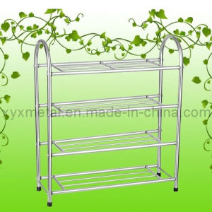 Full Stainless Steel Knock Down Design Metal Shoe Rack pictures & photos