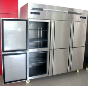 Dual Temperature Stainless Steel Freezer with Six Door pictures & photos