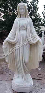 Hand Carved Marble Virgin Mary Statue (SK-2678) pictures & photos
