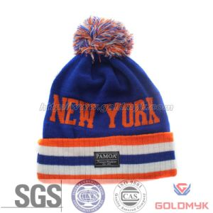 New York Jacquard Beanie Hat with POM POM (GKA0401-A00020) pictures & photos