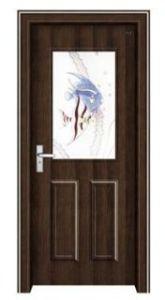 Entrance Steel Wooden Door (EWS018)