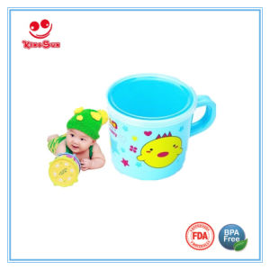 BPA Free Plastic Water Cup with Cover 180ml Milk Cup pictures & photos