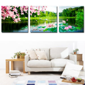3 Piece Modern Wall Art Printed Painting Swan Painting Room Decor Framed Art Picture Painted on Canvas Home Decoration Mc-236 pictures & photos