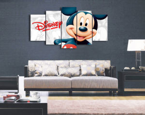 HD Printed Cartoon Mickey Mouse Painting Wall Art Canvas Print Room Decor Print Poster Picture Canvas Mc-116 pictures & photos