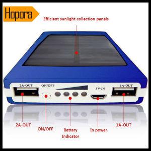 30000mAh Dual USB Portable Solar Panel Power Bank External Battery Bank
