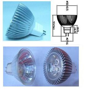 MR16 LED Light 3*1W (HBC003WBLM16), LED Household Light