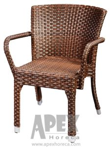 Aluminum Rattan Outdoor Furniture Wicker Chair (AS1062AR) pictures & photos