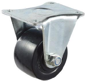 Black Color Ball Bearing Fixed Nylon Caster Wheel (LG-A-75-ABB)