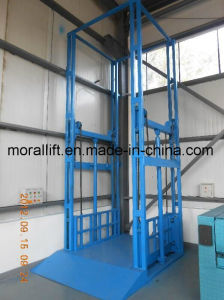 Vertical 4 Guide Rail Hydralic Freight Lift pictures & photos
