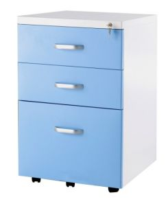 3 Drawer Under Desk Mobile Filing Cabinet for Office pictures & photos