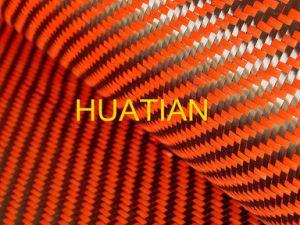 Orange Kevlar Carbon Fiber Fibric/Cloth