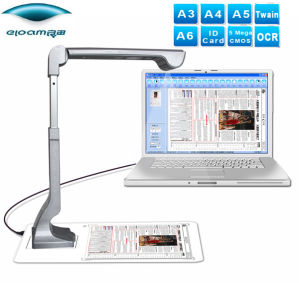 Document Scanner, Folded &Stand up, Aluminum-Alloy, A4, 5MP, JPG, TIF, BMP, Pdf pictures & photos