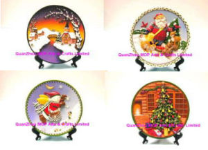 Polyresin Christmas Plate for Christmas Gifts pictures & photos