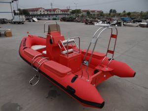 Inflatable Rescue Rib Boat Heavy Load Fiberglass 5.2m pictures & photos