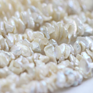 15mm White Keshi Pearl Strands Wholesale, Center Drilled Hole, E190011 pictures & photos